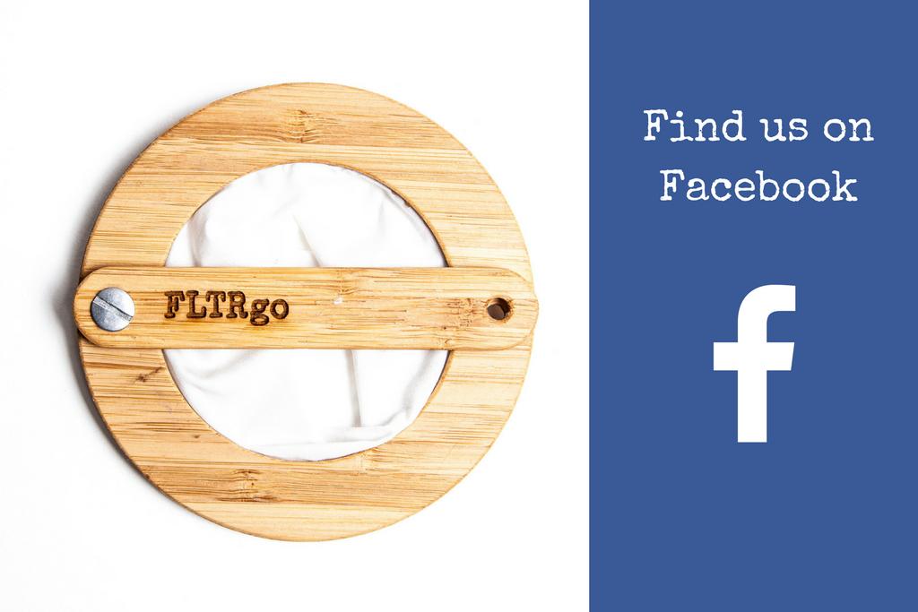 Find us on Facebook, FLTRgo Travel Coffee Filter